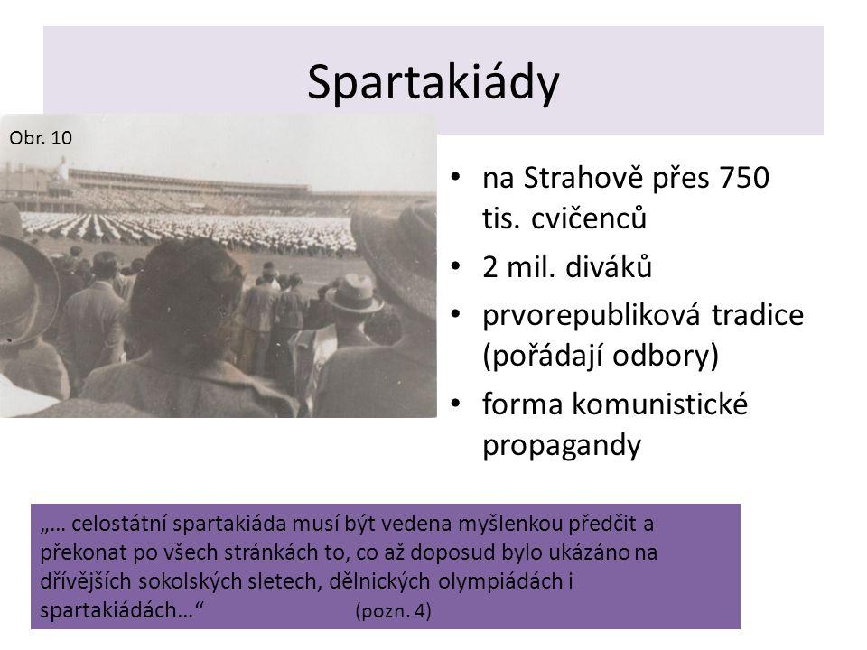 Spartakiády na Strahově přes 750 tis. cvičenců 2 mil. diváků