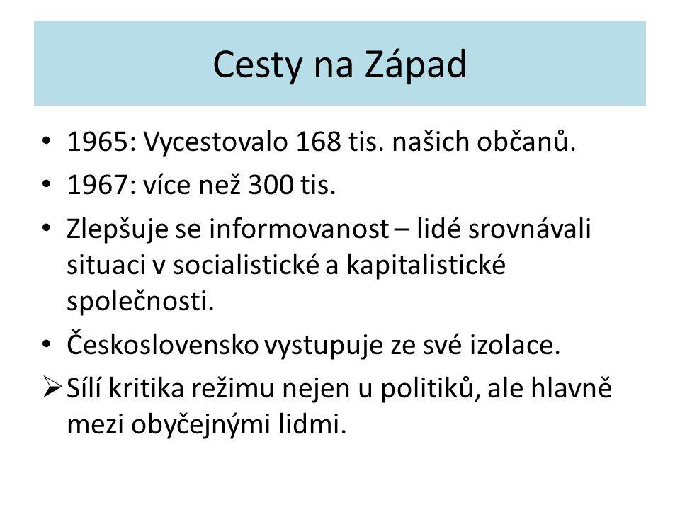 Cesty na Západ 1965: Vycestovalo 168 tis. našich občanů.