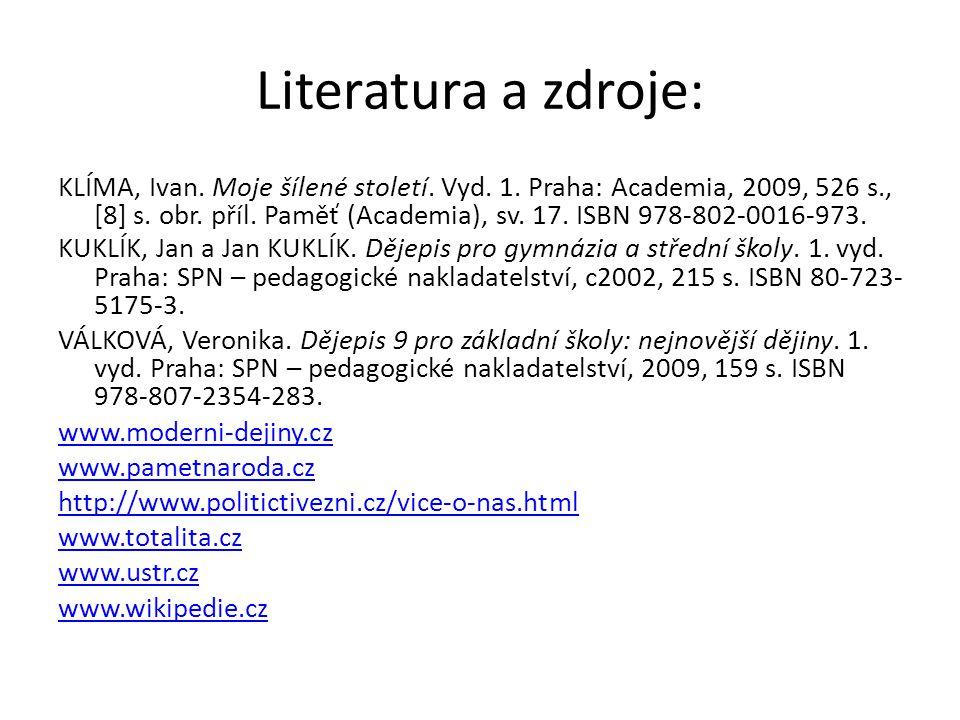Literatura a zdroje: