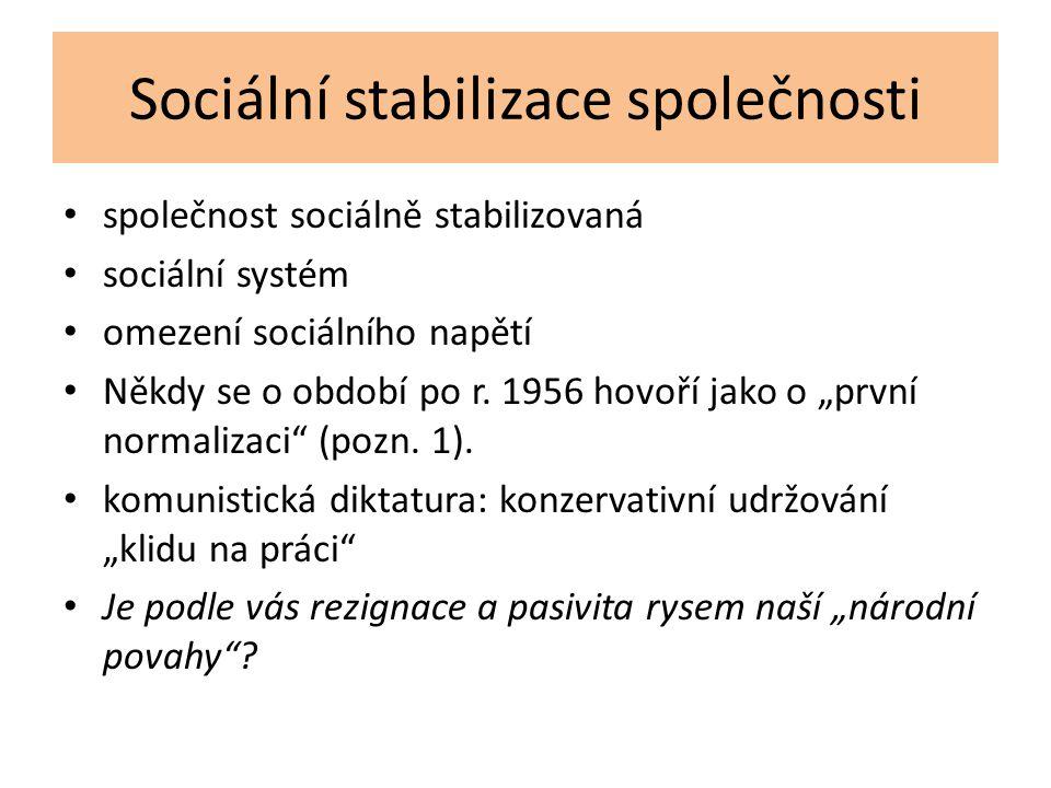 Sociální stabilizace společnosti
