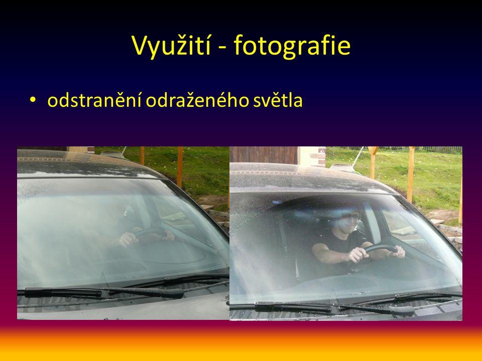 Využití - fotografie odstranění odraženého světla