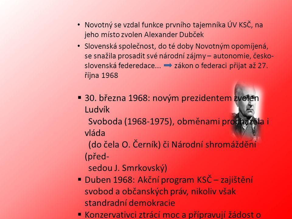 30. března 1968: novým prezidentem zvolen Ludvík