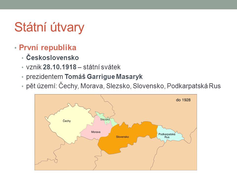 Státní útvary První republika Československo