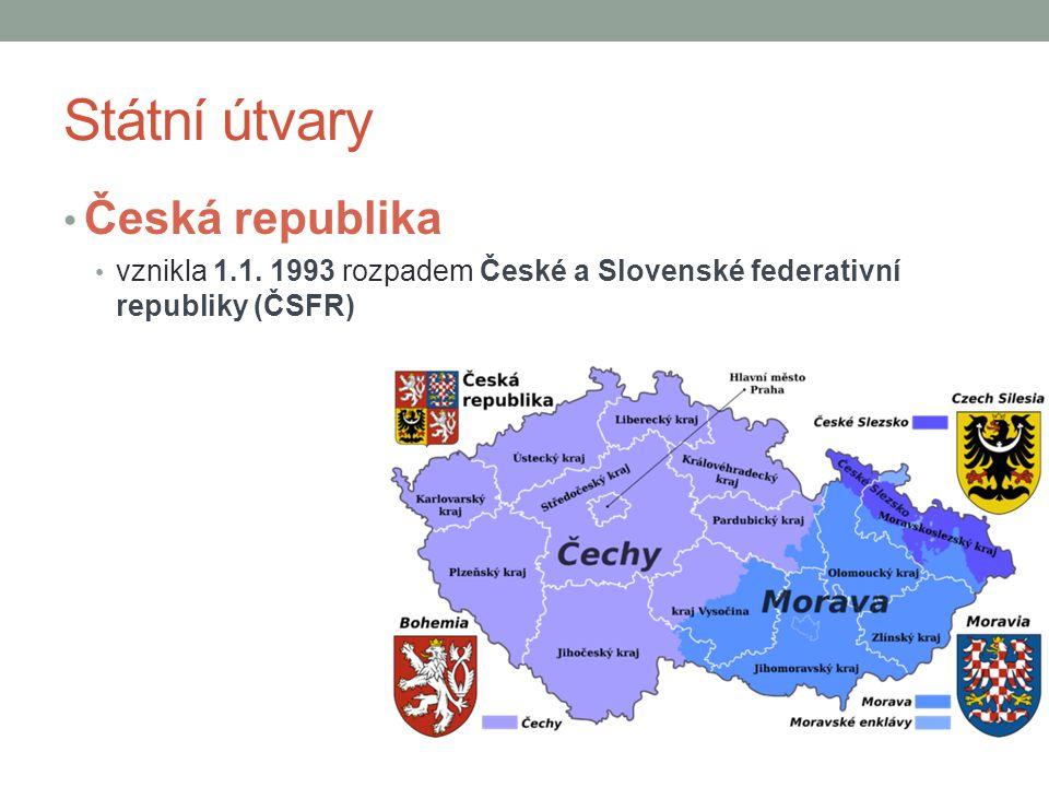 Státní útvary Česká republika