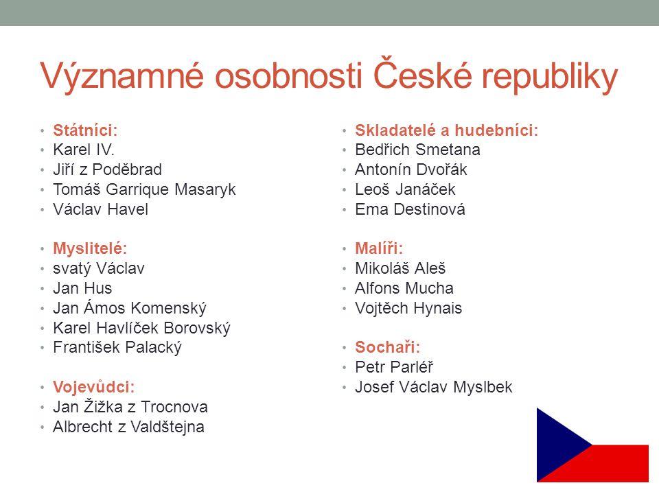 Významné osobnosti České republiky