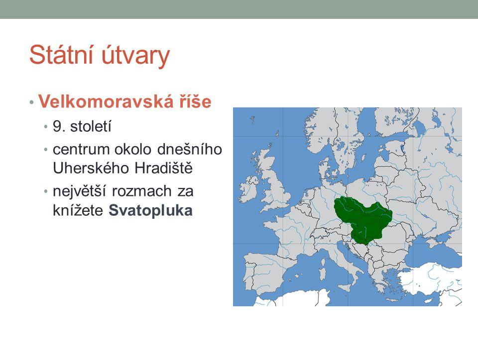 Státní útvary Velkomoravská říše 9. století