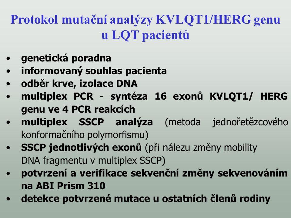 Protokol mutační analýzy KVLQT1/HERG genu