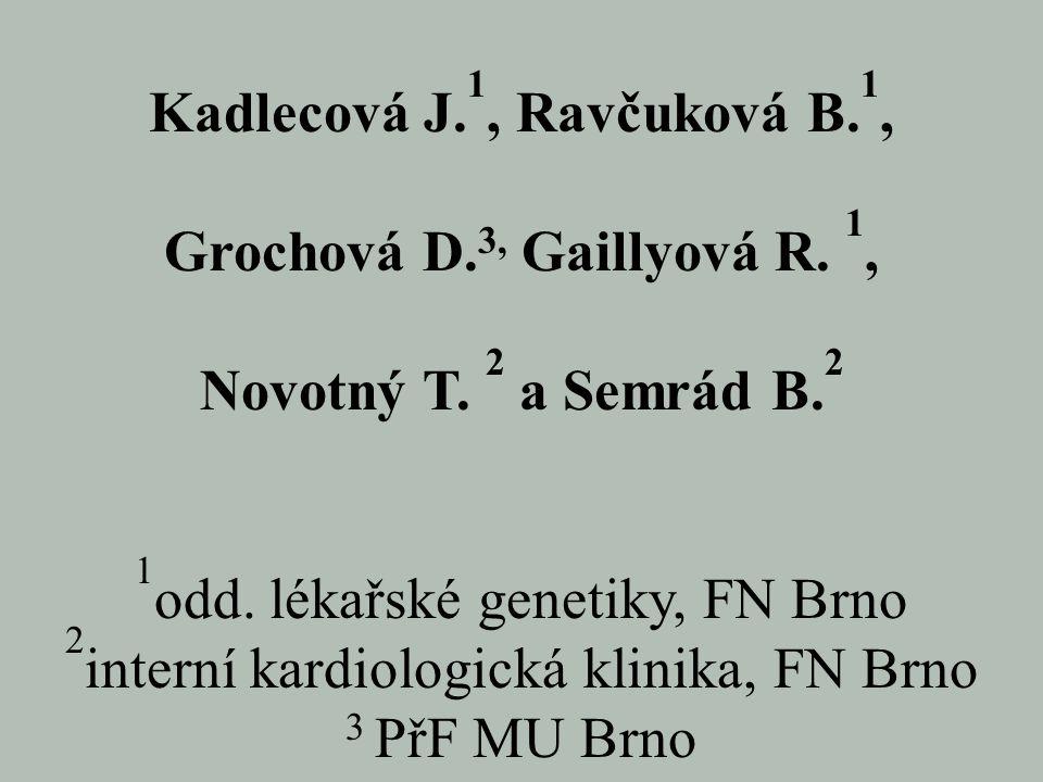 Kadlecová J.1, Ravčuková B.1,