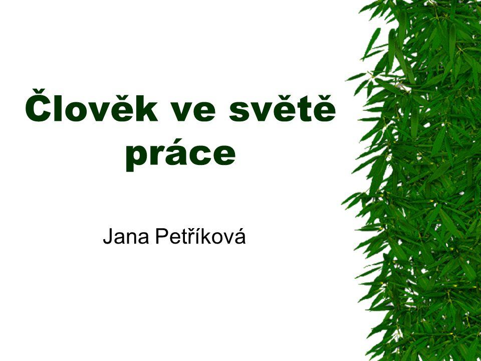 Člověk ve světě práce Jana Petříková