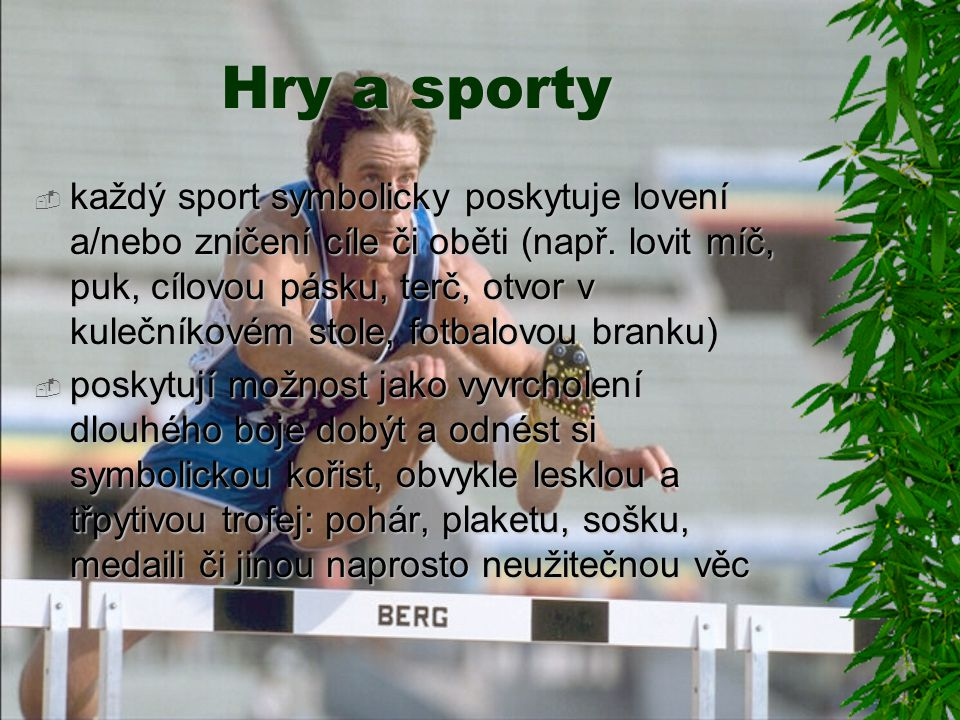 Hry a sporty