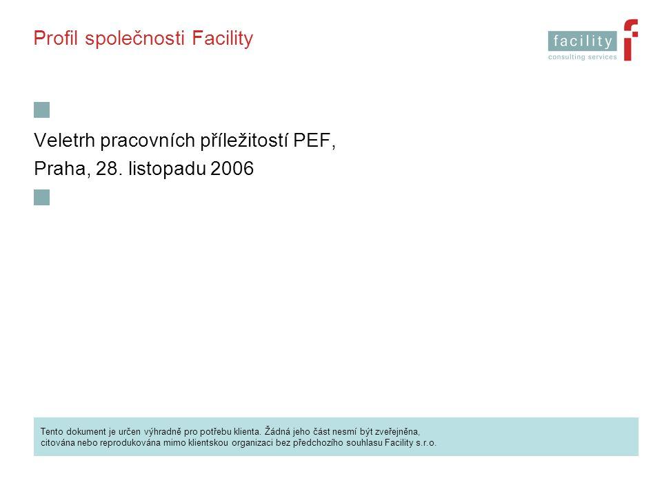 Profil společnosti Facility