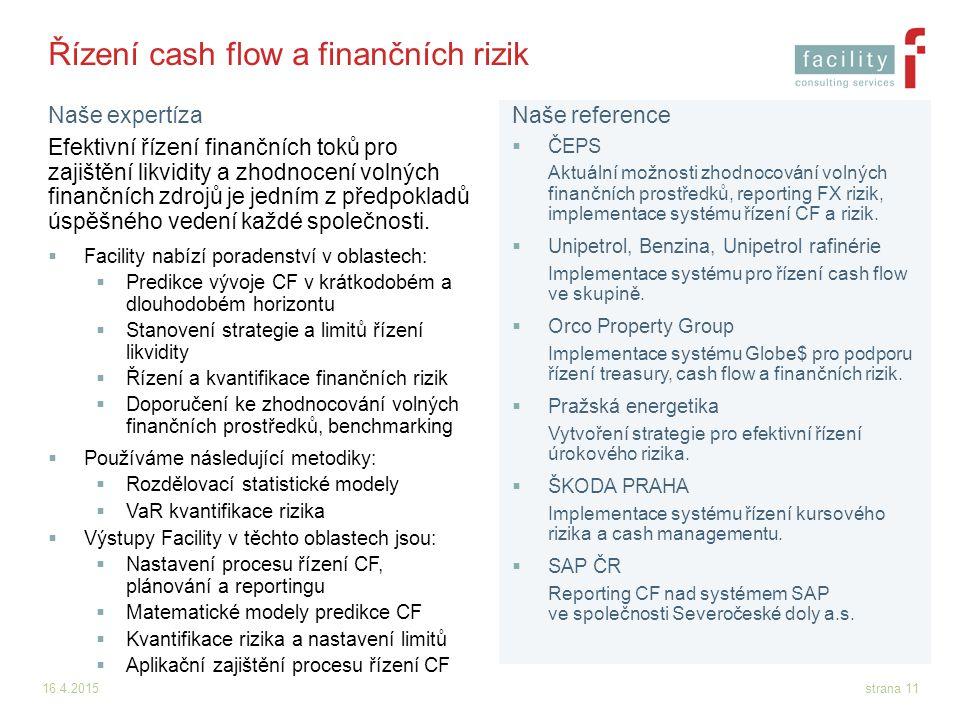 Řízení cash flow a finančních rizik
