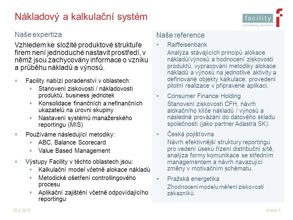 Nákladový a kalkulační systém