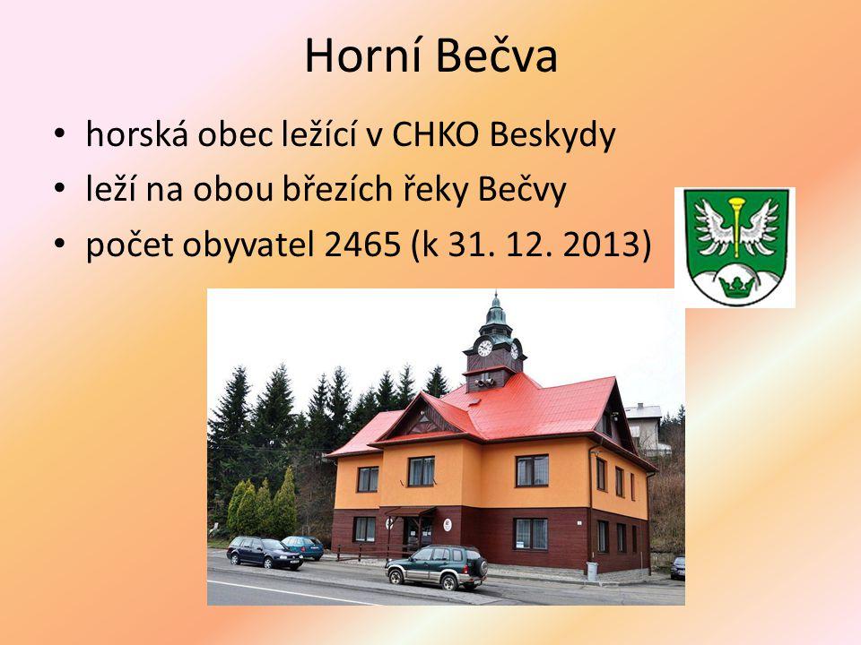 Horní Bečva horská obec ležící v CHKO Beskydy