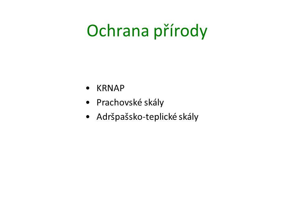 Ochrana přírody KRNAP Prachovské skály Adršpašsko-teplické skály