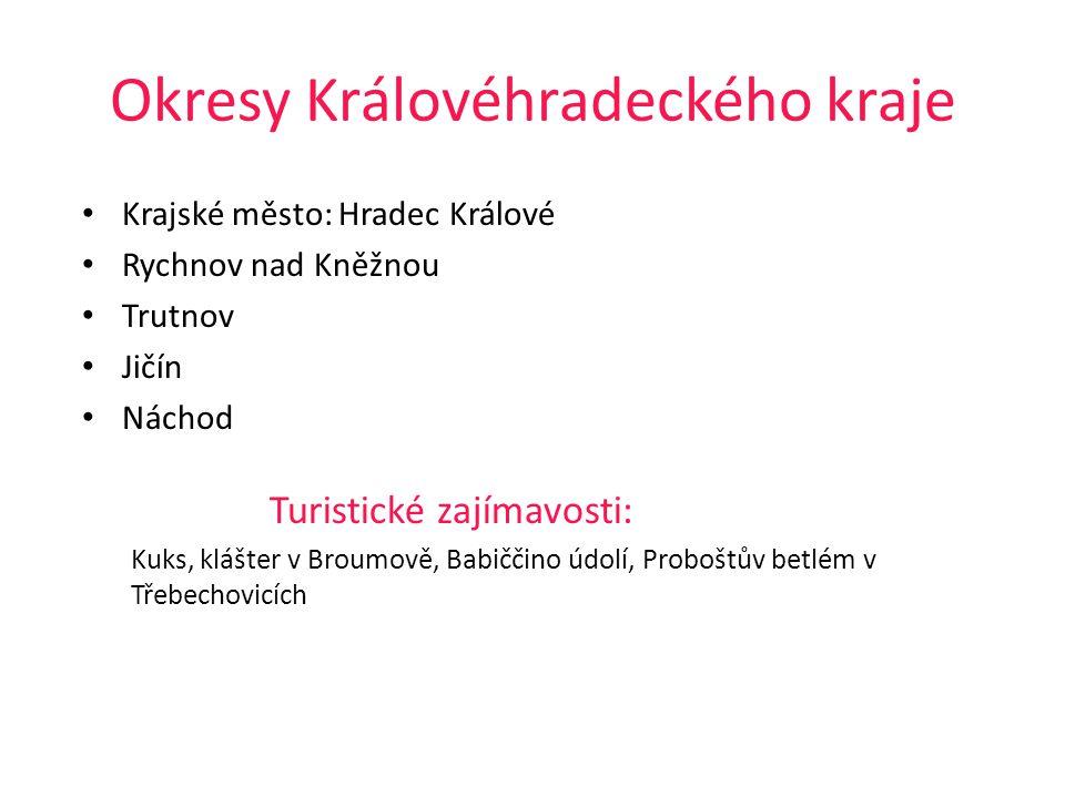 Okresy Královéhradeckého kraje