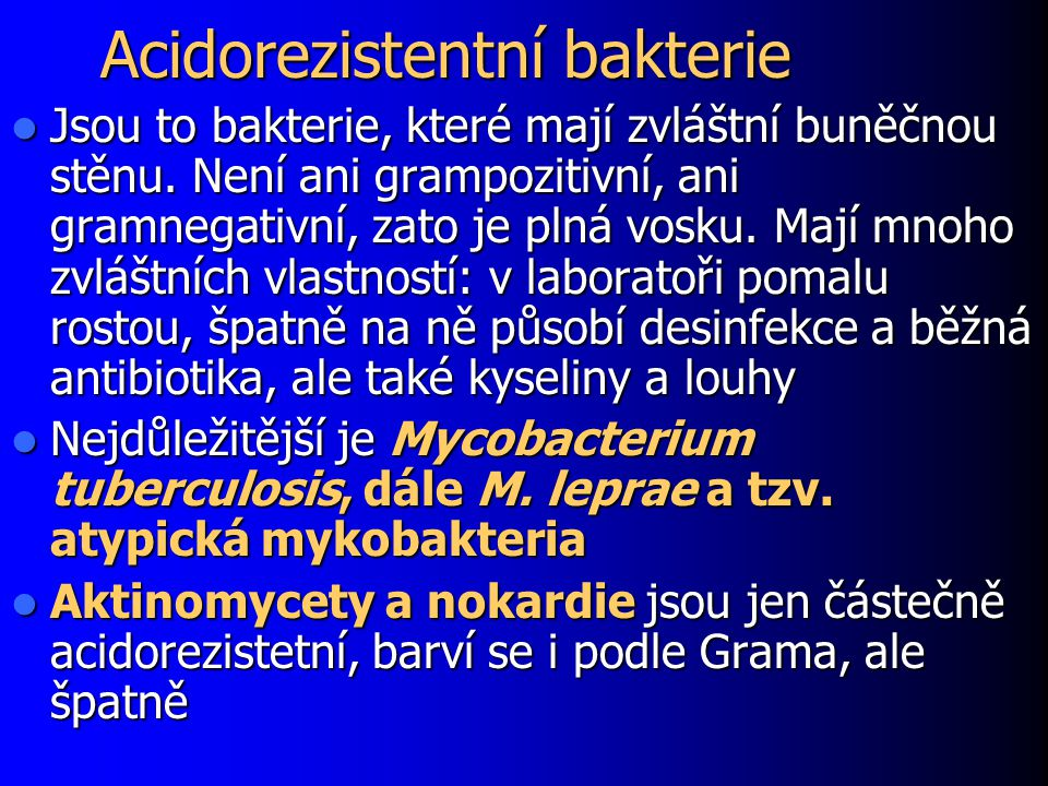 Acidorezistentní bakterie