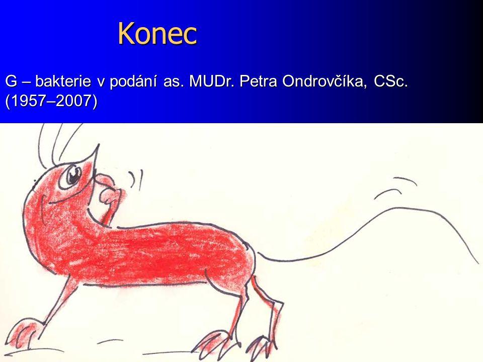 Konec G – bakterie v podání as. MUDr. Petra Ondrovčíka, CSc. (1957–2007)