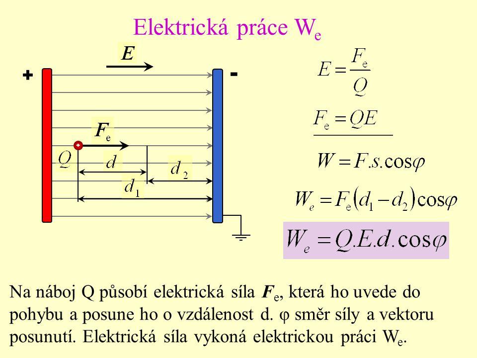 Elektrická práce We + - + +