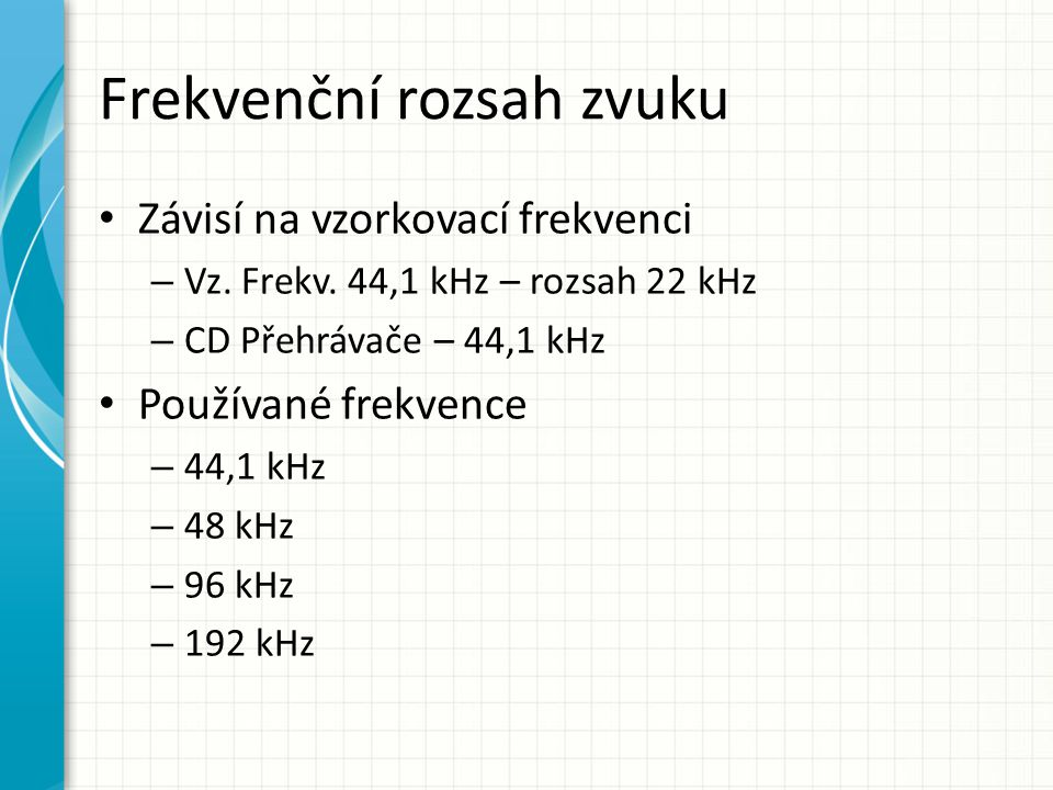 Frekvenční rozsah zvuku