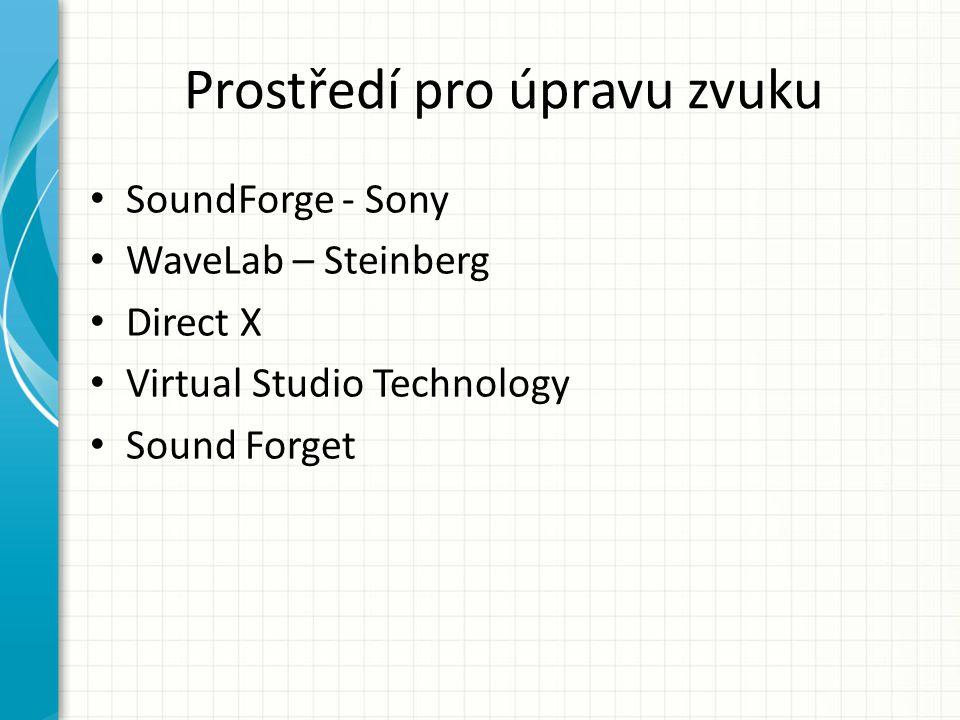 Prostředí pro úpravu zvuku