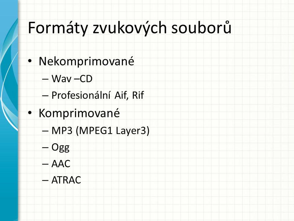 Formáty zvukových souborů