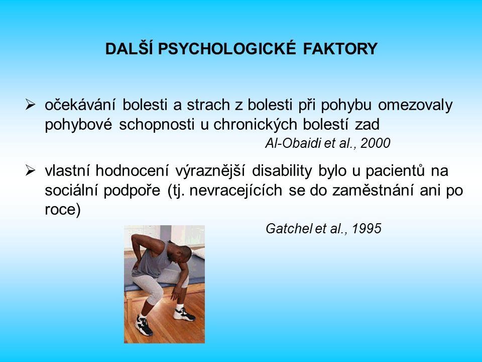 DALŠÍ PSYCHOLOGICKÉ FAKTORY
