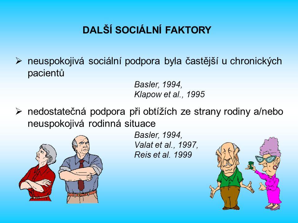 DALŠÍ SOCIÁLNÍ FAKTORY
