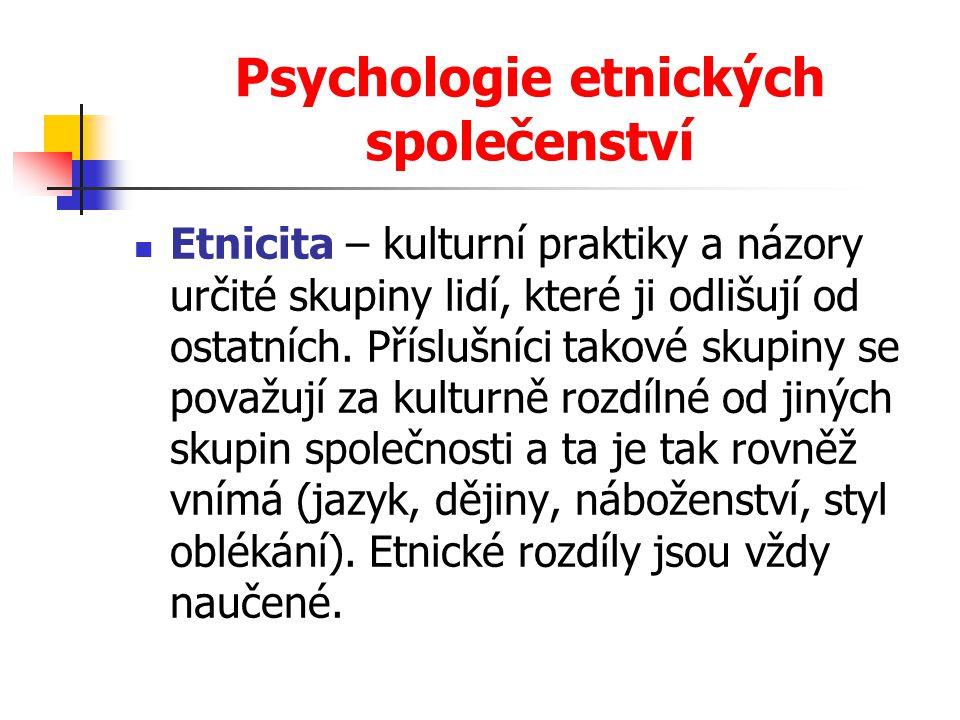Psychologie etnických společenství