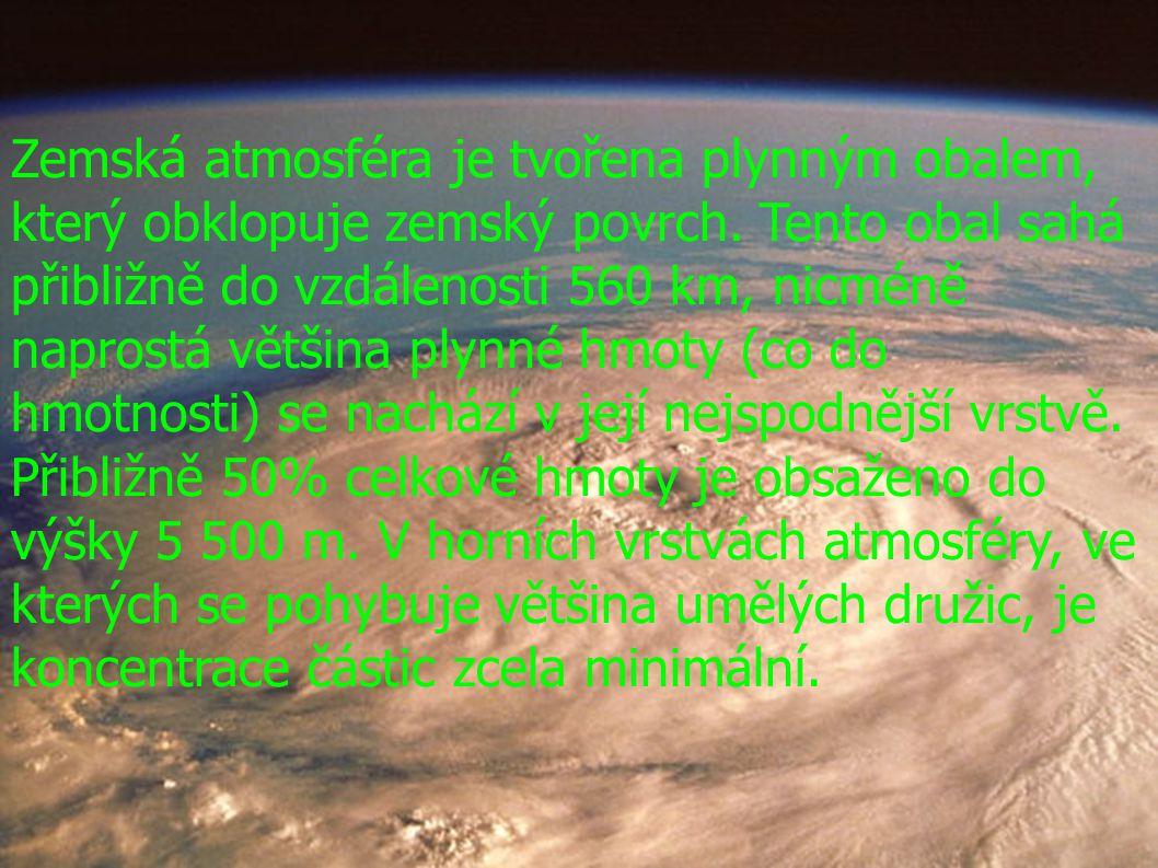 Zemská atmosféra je tvořena plynným obalem, který obklopuje zemský povrch.
