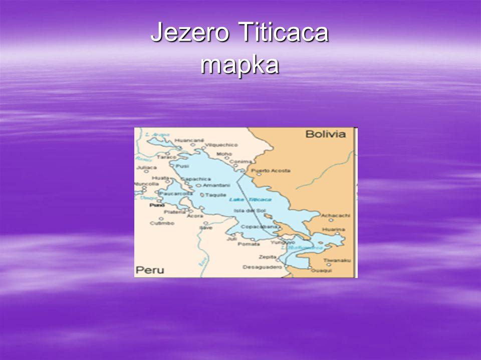 Jezero Titicaca mapka