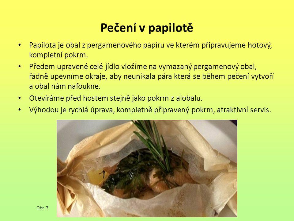 Pečení v papilotě Papilota je obal z pergamenového papíru ve kterém připravujeme hotový, kompletní pokrm.