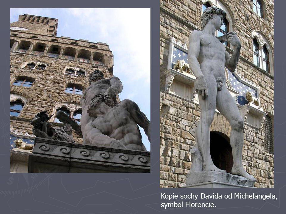 Kopie sochy Davida od Michelangela,