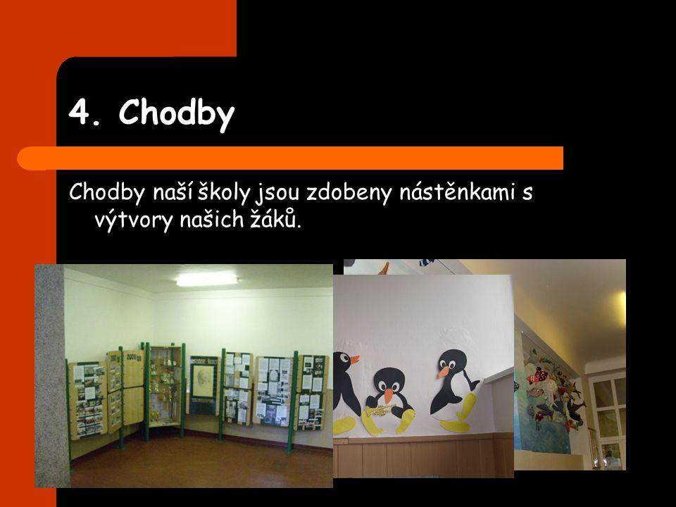 4. Chodby Chodby naší školy jsou zdobeny nástěnkami s výtvory našich žáků.