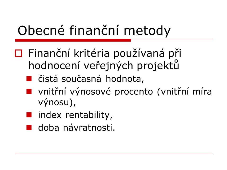 Obecné finanční metody