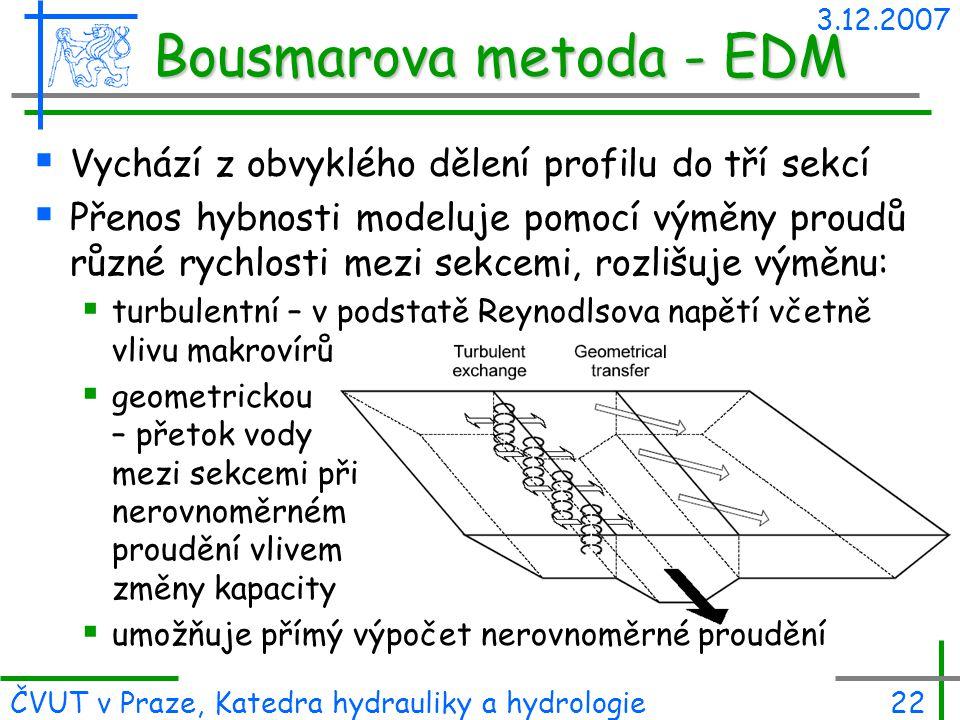 Bousmarova metoda - EDM