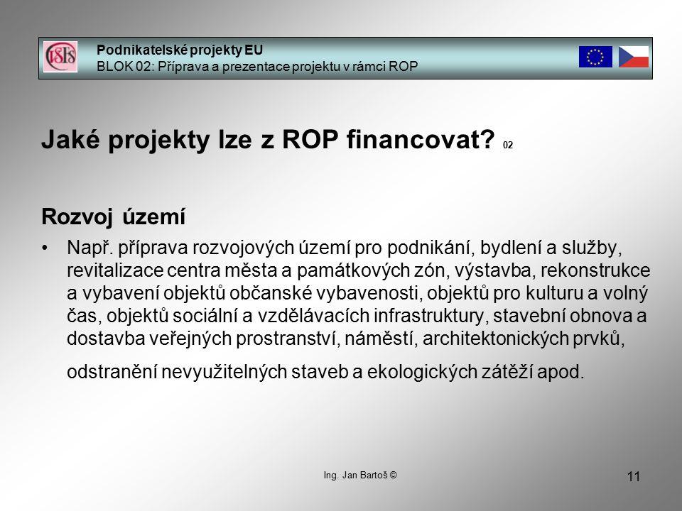 Jaké projekty lze z ROP financovat 02