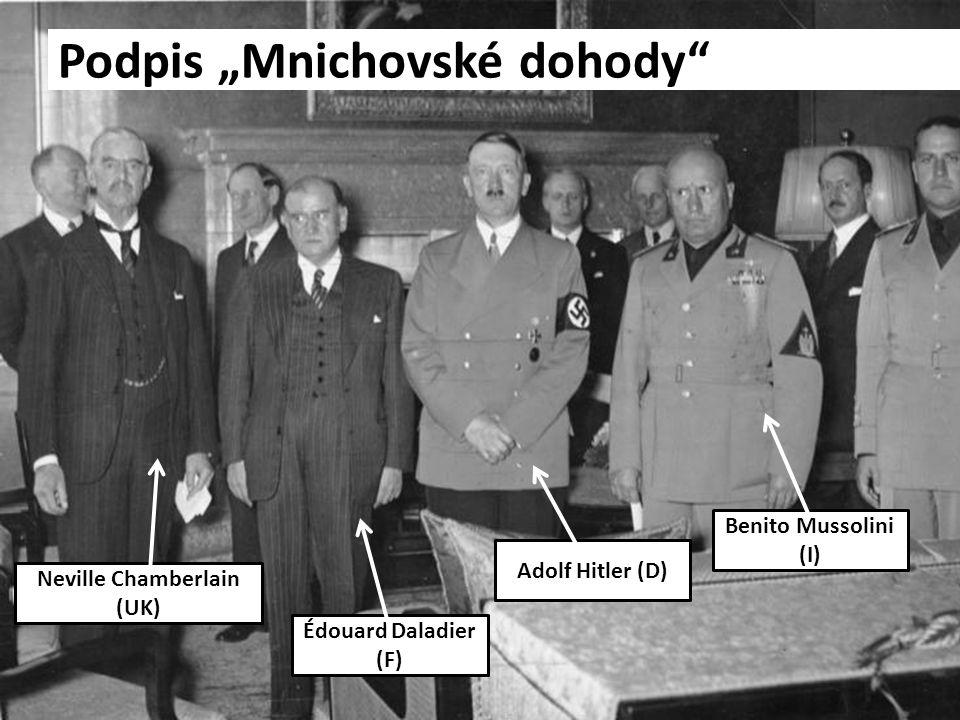 """Podpis """"Mnichovské dohody"""