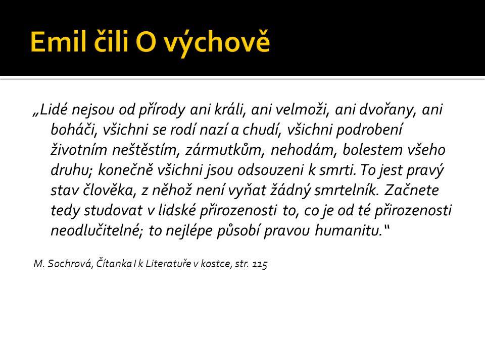Emil čili O výchově