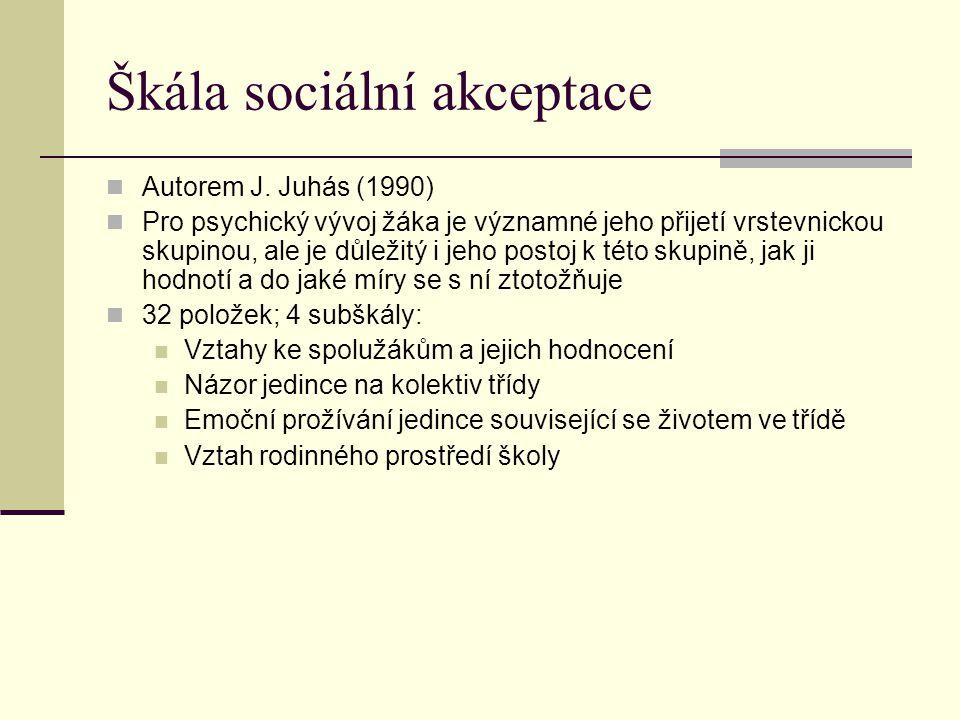 Škála sociální akceptace