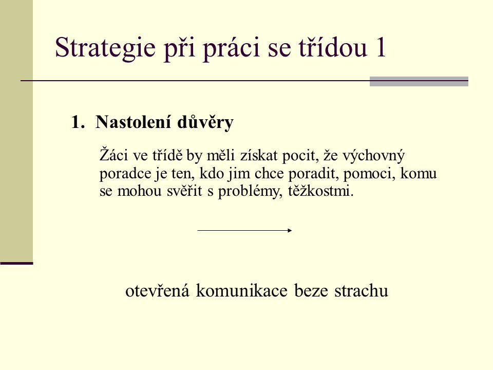 Strategie při práci se třídou 1
