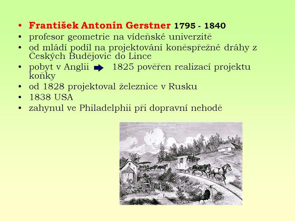 František Antonín Gerstner 1795 - 1840