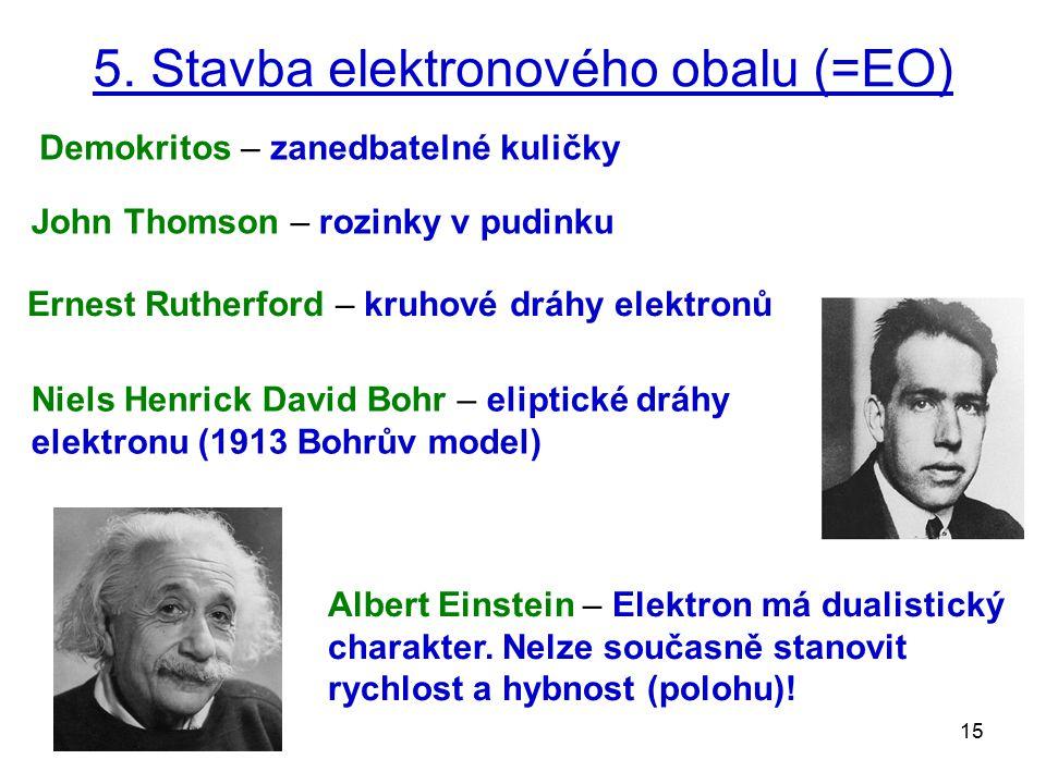5. Stavba elektronového obalu (=EO)