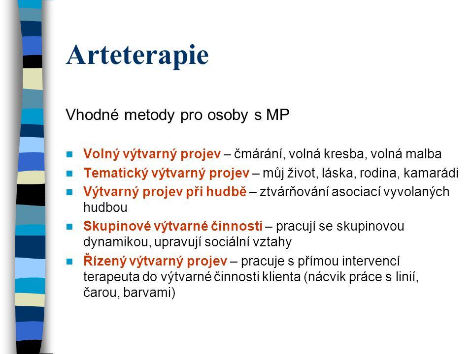 Arteterapie Vhodné metody pro osoby s MP