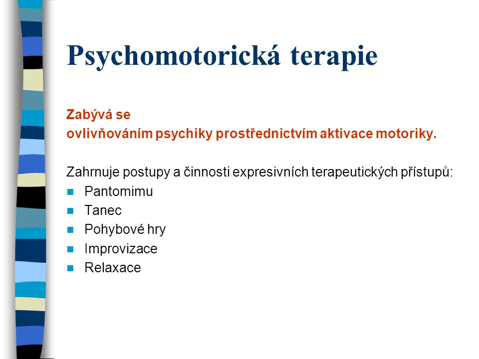 Psychomotorická terapie