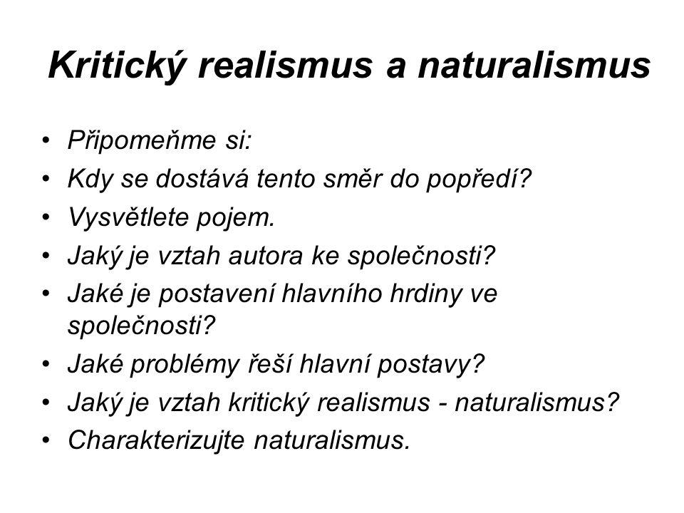 Kritický realismus a naturalismus