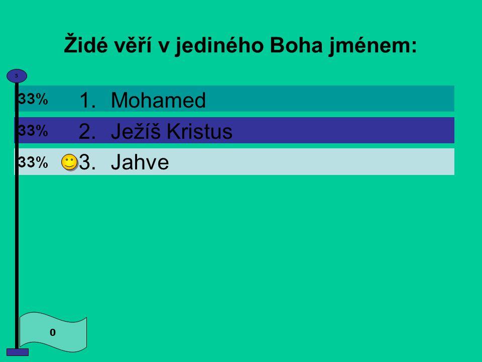 Židé věří v jediného Boha jménem: