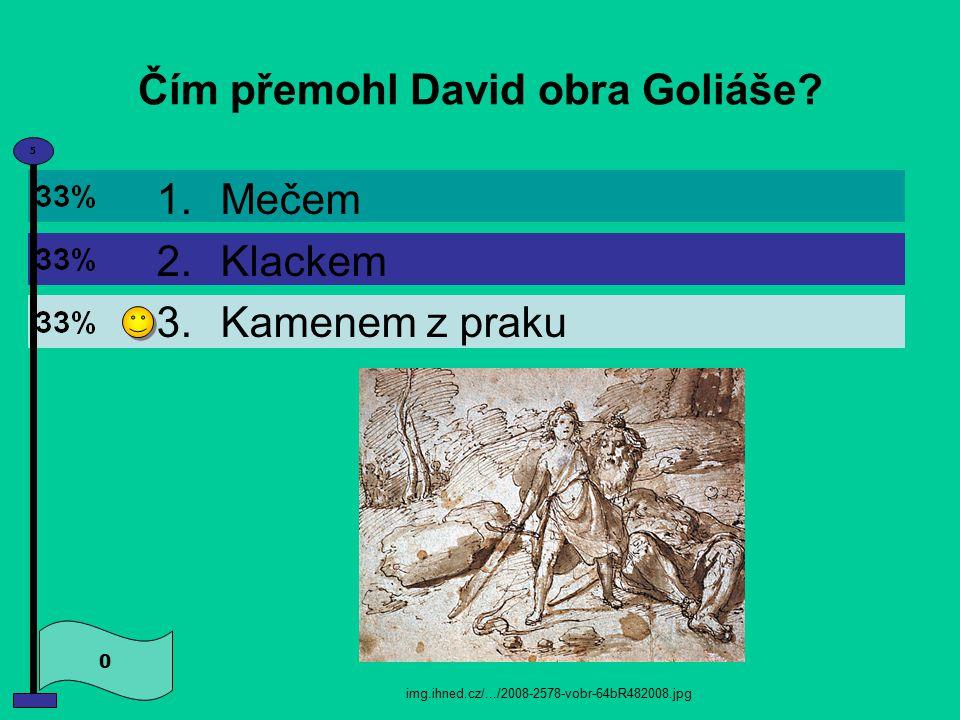 Čím přemohl David obra Goliáše