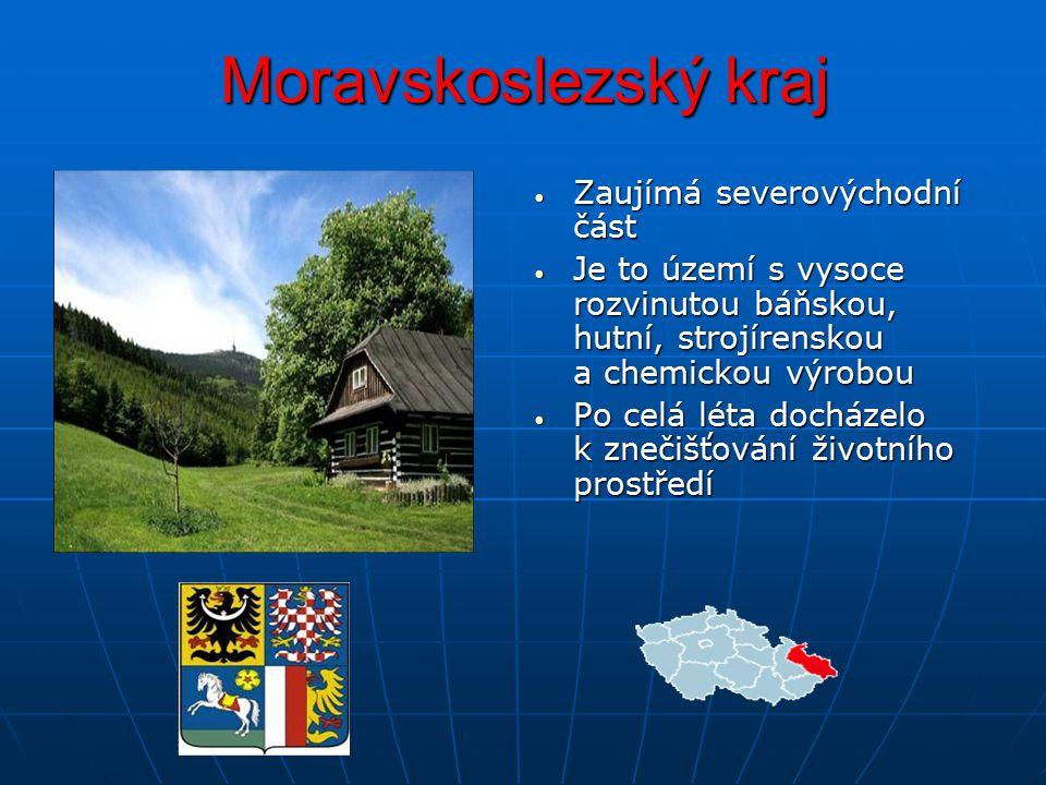Moravskoslezský kraj Zaujímá severovýchodní část
