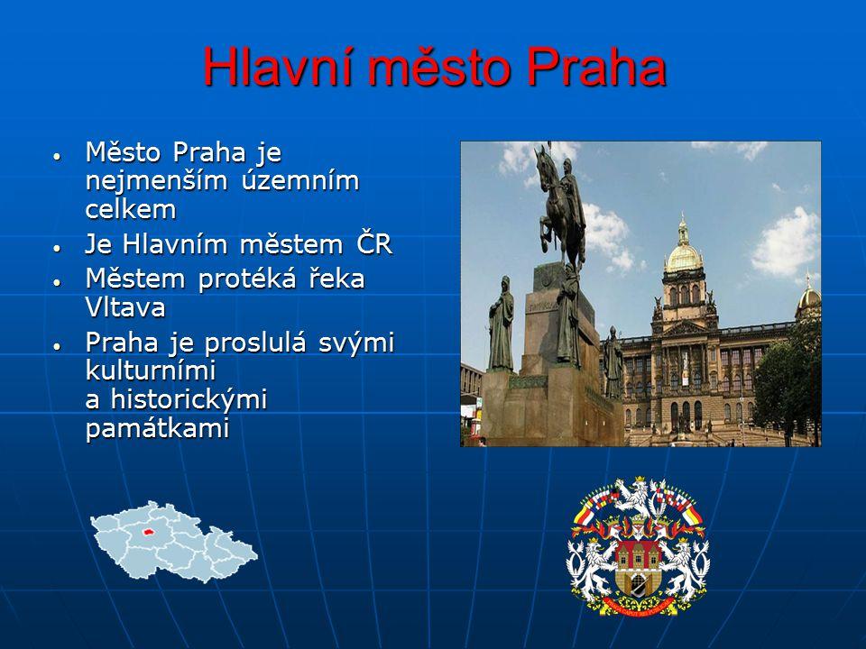 Hlavní město Praha Město Praha je nejmenším územním celkem